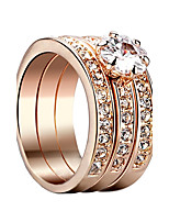 Women's Cubic Zirconia Simple Gold Plated Circle Jewelry For Wedding Gift Office & Career