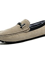 Men's Shoes Pigskin Winter Moccasin Comfort Loafers & Slip-Ons For Casual Khaki Brown Gray Black