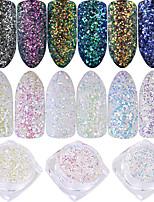 Nail Glitter Laser Holographic Shiny Glitter Powder 0.001kg/box