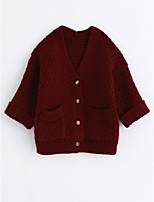 cheap -Girls' Solid Trench Coat,Cotton Wine