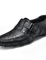 Для мужчин обувь Кожа Весна Осень Удобная обувь Мокасины и Свитер для Повседневные Черный Коричневый