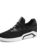 cheap -Men's Shoes Suede Fall Winter Comfort Sneakers Walking Shoes For Athletic Casual Black/White Gray Black