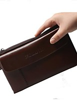 cheap -Men Bags Cowhide Wallet Zipper for Outdoor All Season Black Brown