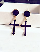 Women's Drop Earrings Hoop Earrings Simple Fashion Alloy Circle Cross Jewelry For Daily Going out