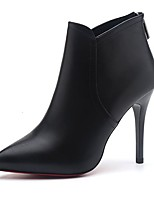 abordables -Mujer Zapatos Goma Invierno Botas de Moda Botas Dedo Puntiagudo Para Negro