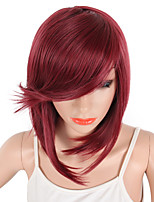 cheap -Women Synthetic Wig Capless Short Wavy Black Red Brown Side Part Natural Hairline Lolita Wig Party Wig Celebrity Wig Halloween Wig