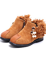 cheap -Girls' Shoes PU Winter Comfort Fashion Boots Bootie Flower Girl Shoes Boots Booties/Ankle Boots Imitation Pearl Zipper Tassel for Casual