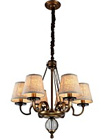 cheap -Rustic/Lodge Traditional/Classic Chandelier For Living Room Bedroom AC 110-120 AC 220-240V Bulb Included
