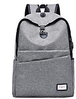 Unisex Bags Polyester School Bag Zipper for Casual All Season Black Dark Blue Purple Light Grey