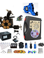 Basekey Pro Tattoo Kit 2 Hacker Machines With Power Supply Grips Cleaning Brush  Needles