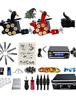Basekey Pro Tattoo Kit 2 Machines With WildFire Digital Power Supply Grips Cleaning Brush  Needles