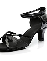 Women's Latin Paillette Customized Materials Heel Indoor Customized Heel Black 2