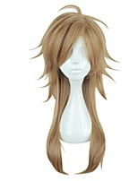 cheap -Women Synthetic Wig Capless Medium Length Long Strawberry Blonde With Bangs Halloween Wig Cosplay Wig Costume Wig