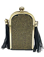 Women Bags PU Evening Bag Tassel for Wedding Event/Party All Season Black
