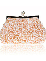 Women Bags Polyester ABS+PC Evening Bag Pearl Detailing for Wedding Event/Party All Season Champagne Black Beige