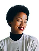 preiswerte -Damen Menschliches Haar Capless Perücken Natürlich Schwarz Kurz Kinky-Curly Jheri-Lockenkopf Afro-amerikanische Perücke