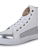 Недорогие -Для мужчин обувь Резина Весна Осень Удобная обувь Кеды Для прогулок Ботинки С отверстиями Назначение Белый Черный Темно-синий