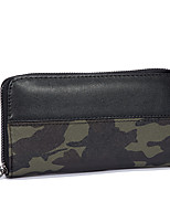 Men Bags PU Wallet Pattern / Print for All Season Gray Army Green