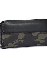 abordables -Hombre Bolsos PU Cartera Diseño / Estampado para Todo el Año Gris Verde Ejército