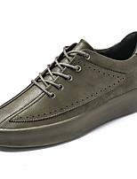 Недорогие -Для мужчин обувь Полиуретан Весна Осень Светодиодные подошвы Кеды Ноль Ноль / Назначение Повседневные Серый Зеленый Черно-белый