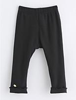 economico -Pantaloni Da ragazza Cotone Tinta unita Inverno