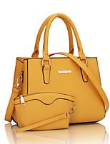 cheap -Women Bags PU Bag Set 2 Pieces Purse Set Zipper for Wedding Formal All Season White Black Red Yellow Fuchsia