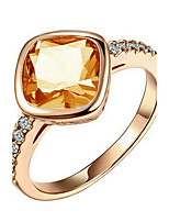 Women's Crystal Sweet Gold Plated Square Jewelry For Party Gift Date