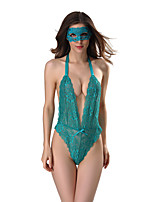 Women's Lace Lingerie Ultra Sexy Nightwear,Sexy Lace Patchwork-Translucent