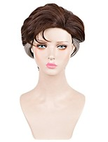 cheap -Highlight Brown Mixed Color Men Synthetic Wig Heat Resistant Hot Sale Cosplay Party Custome Wig Natural Short Capless Male Wig High Temperature Fabric