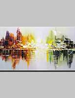 Hand-Painted Abstract Horizontal,Simple Modern One Panel Canvas Oil Painting For Home Decoration