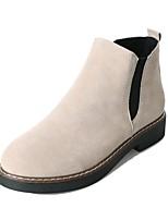abordables -Mujer Zapatos Vellón Invierno Botas de Combate Botas Tacón Cuadrado Dedo redondo para Negro Beige Verde