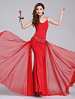 tendremos vestidos de danza del vientre vestidos sin mangas de poliéster de alto rendimiento femenino