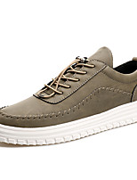cheap -Men's Shoes PU Spring Fall Light Soles Sneakers For Casual Khaki Coffee Black
