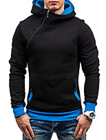 cheap -Men's Daily Sports Holiday Casual Hoodie Solid Hooded Hoodies Micro-elastic Cotton Polyester Long Sleeves Winter Fall