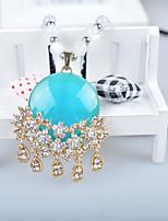 Жен. Ожерелья с подвесками Стразы Сплав европейский Мода Бижутерия Назначение Повседневные