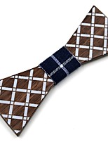 cheap -Men's Others Bow Tie,Work Casual Plaid/Checkered Spring, Fall, Winter, Summer Brown