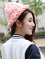 Women's Sweater Floppy Hat,Cute Solid Winter Pure Color