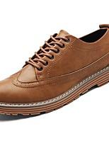 Недорогие -Для мужчин обувь Наппа Leather Весна Осень Светодиодные подошвы Кеды Назначение Повседневные Белый Черный Серый Коричневый