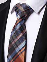 Men's Polyester Necktie,Work Casual Striped All Seasons Blue
