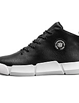 baratos -Masculino sapatos Courino Inverno Botas da Moda Tênis Para Casual Preto Vermelho