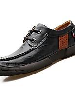 Masculino sapatos Couro Ecológico Pele Todas as Estações Conforto Oxfords Para Casual Preto Marron