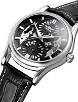 WINNER Men's Fashion Watch Dress Watch Wrist watch Automatic self-winding Water Resistant / Water Proof Hollow Engraving Genuine Leather