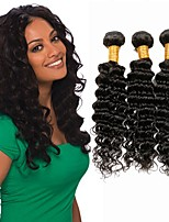cheap -Brazilian Remy Deep Wave Human Hair Weaves 6 pieces