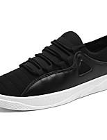 baratos -Masculino sapatos Couro Ecológico Primavera Outono Conforto Tênis Nulo Nulo / Para Casual Branco Preto Vermelho