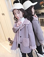 cheap -Girls' Cartoon Blouse,Polyester Winter Long Sleeve Cartoon Green Purple Khaki