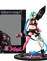 Anime Action Figures Inspired by LOL Jinx PVC 24 CM Model Toys Doll Toy