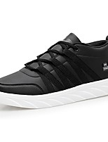 cheap -Men's Shoes Synthetic Microfiber PU Spring Fall Light Soles Sneakers For Casual Black/White Black White
