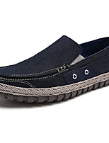cheap -Men's Shoes PU Spring Fall Comfort Loafers & Slip-Ons For Outdoor Gray Dark Blue