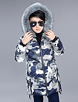 Boys' Solid Camouflage Color Down & Cotton Padded,Cotton Long Sleeves