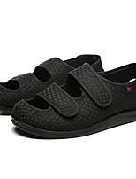 Для мужчин обувь Ткань Весна Осень Удобная обувь Сандалии Назначение Повседневные Черный